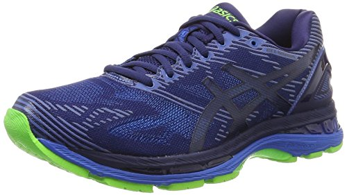 Asics Gel-Nimbus 19 Lite-Show, Zapatillas de Running para Hombre, Azul (Indigo Blue/Directoire Blue/Reflective), 44.5 EU