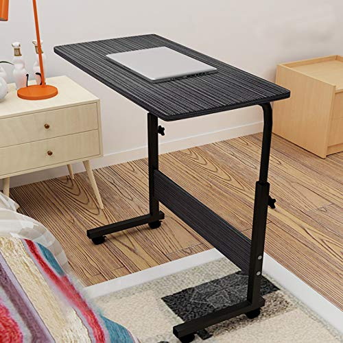 Youyijia Computer Desk 40 * 60*(67 * 80) cm Standing Height Adjustable Computer Desk Laptop Table for Sofa and Bed(Black)
