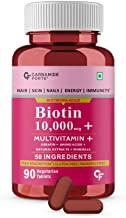 Carbamide Forte Biotin 10000mcg with Multivitamin, Keratin & Bamboo Extract Tablets For Hair Growth for women & Men -90 Tablets