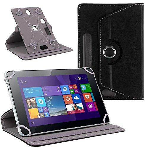 NAUC Tablet Tasche Hülle für CSL Panther Tab 10 Schutzhülle Cover Case 360° Universal, Farben:Schwarz