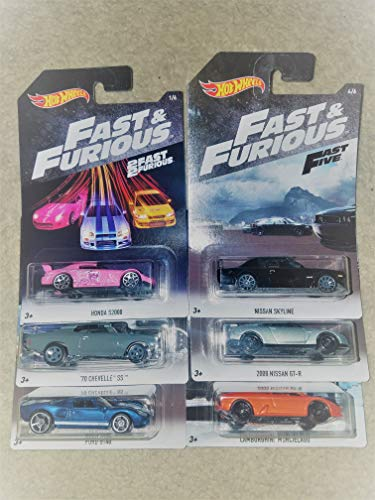 Hot Wheels 2018 2 Fast 2 Furious Complete Set of 6