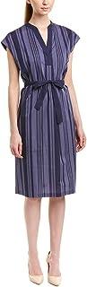 Anne Klein womens STRIPE COTTON SHEATH DRESS Dress