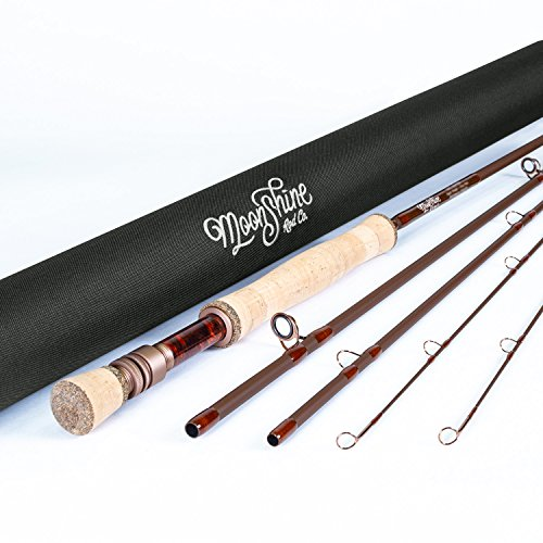 Moonshine Rod Co. The Drifter Series Fly Fishing Rod (Matte, 8WT 9' 4PC)