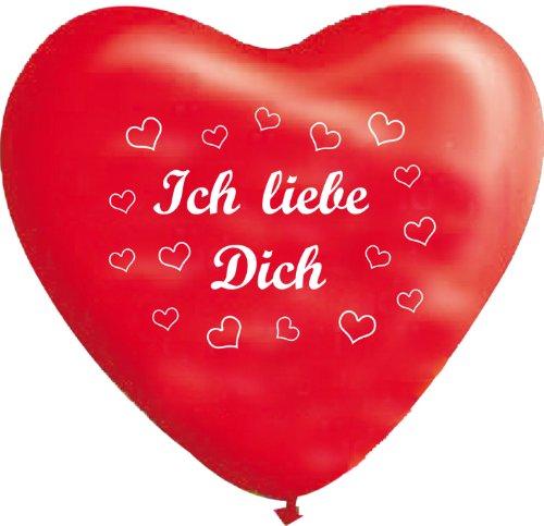 Unbekannt 10 rote Herzballons ich Liebe Dich, ca. 28 cm Durchmesser