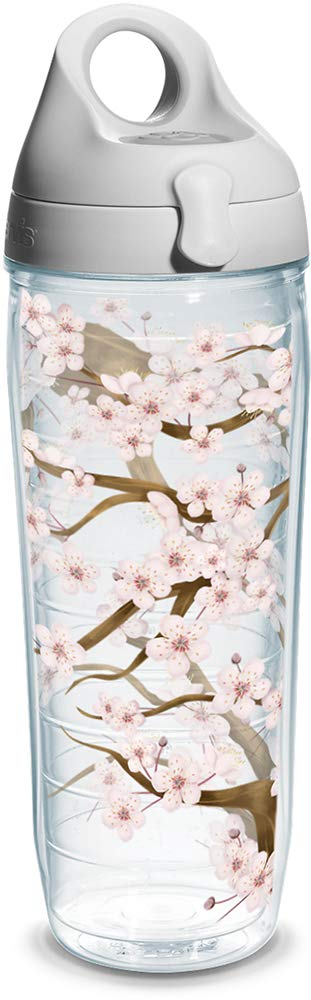 Tervis Tumbler Max 89% OFF Cherry Blossom Wrap Lid Ranking TOP8 Bottle Water Clear with
