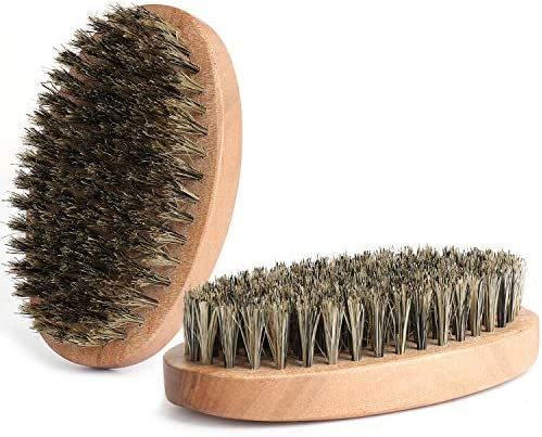 Beard Brush Natural Firm Hog Hair and Pearwood Works With All Beard Balms and Beard Oils Exfoliates product image