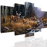 Canvas_Art_Design_2015 Elk Deer Canvas Print Home Decor Wall Art Painting Pictures 5 Pieces (20x30cmx2,20x40cmx2,20x50cmx1)
