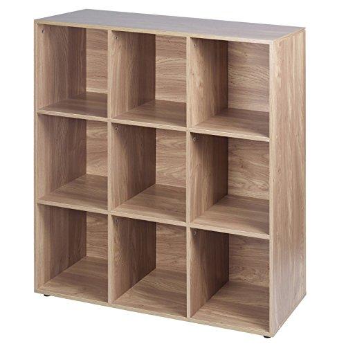 URBN Living - Libreria componibile in legno con 9 cubi, effetto quercia