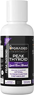 Peak Thyroid by Upgraded Formulas | with Zinc, Iodine, Selenium and Copper | 60 Servings