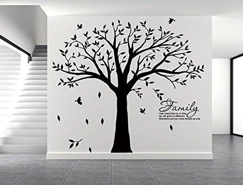 Black tree decal