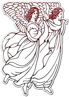 Female Angel Dancing - Vinyl Decal Sticker - 5.75