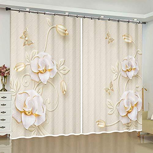 cortinas negras mariposas