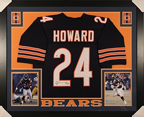 Jordan Howard Chicago Bears Signed Autograph Custom FRAMED Jersey Beckett Witnessed Certified