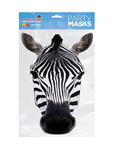 Masque zèbre Face carte, masque arade, personnage usurpation ou déguisement