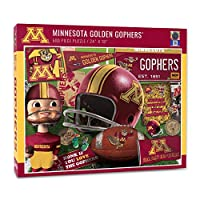 YouTheFan NCAA Minnesota Golden Gophers Retro Series Puzzle - 500 Pieces, Team Colors, Large