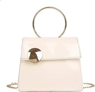 Wultia - Bags for Women Men 2019Women Large Button Crossbody Bag Fashion Patent Leather Chain Bag Bolsa Feminina White