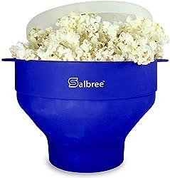 professional Original Salbree Microwave Popcorn, Silicone Popcorn Maker, BPA Free Folding Bowl – 18…