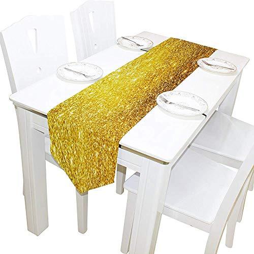 Tafelloper Home Decor, stijlvol gouden glitter sterren tafelkleed runner koffie mat