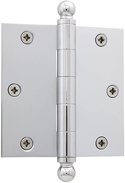 Grandeur Hardware 808992 3 5 Ball Tip Residential Hinge With Square Corners 3 5 X 3 5 Satin Nickel Amazon Com
