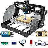 VEVOR CNC 3018 Pro Max CNC 3018 10,000 RPM Control de 3 Ejes GRBL, Máquina CNC, Grabador Láser, Fresadoras para Madera 300 × 180 × 45 mm, para Tallar Plástico, Acrílico, PVC, Madera