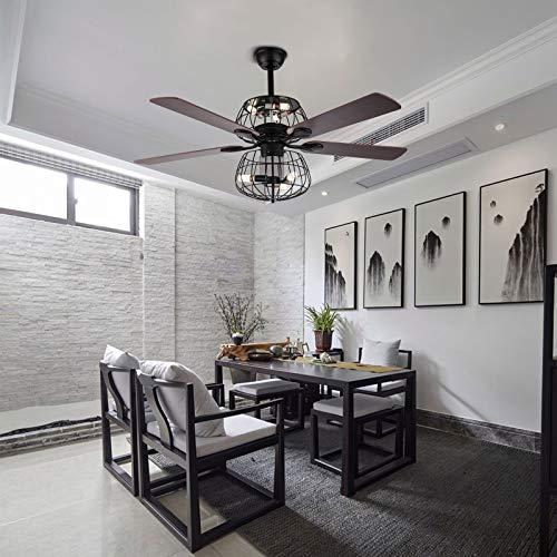 Ventilador de techo con forma de palma, 52 pulgadas, 5 luces y mando a distancia de 3 marchas, lámpara de alta calidad, decoración para el hogar o el comedor