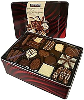 European Cookies Kirkland Signature with Belgian, Chocolate, 49.4 Ounce