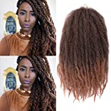 K&G HAIR Afro Twist Braiding Hair 18inch Marley Braiding Hair Synthetic Kinky Curly Marley Braid Hair Extensions(T1B-30#)