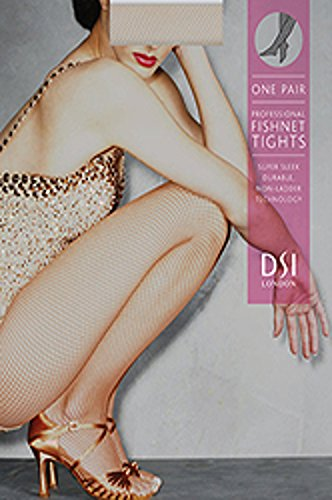 Netzstrumpfhose, Tanzstrumpfhose, Lateinstrumpfhose, Strumpfhose von DSI – Tan - Gr. S/M (M/L)