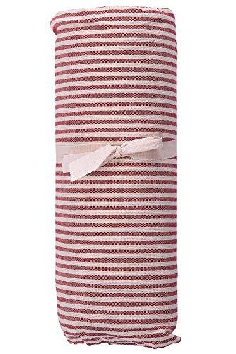 HomeLife – Foulard Multiusos – Tela Decorativa Cubre sofá con diseño de Rayas, 260x280, fabricación Italiana – Granfoulard de algodón – Cubrecama Doble (Cama de Matrimonio) – Rojo