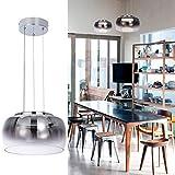 Helych Modern Glass Pendant Light LED Not Dimmable Modern Chandelier Adjustable Gradient Grey Pendant Light Fixture for Kitchen Island Living Room Dining Room, Warm White 3000K