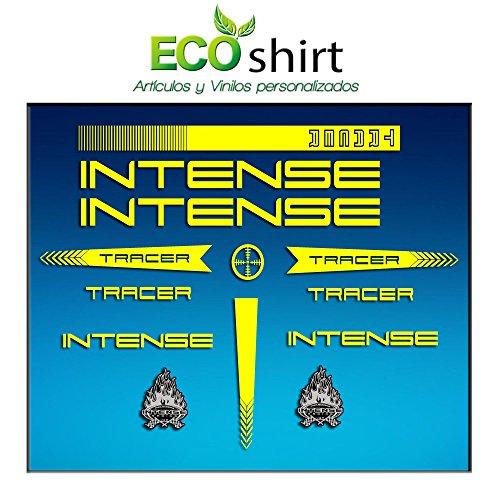 Ecoshirt Z3-H30L-YRFB Pegatinas Stickers Cuadro Intense Tracer Am56 Frame MTB Downhill, Amarillo