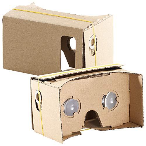 PEARL VR-Handybrillen: 2er-Set Virtual-Reality-Brillen, Bausatz für Smartphones (4