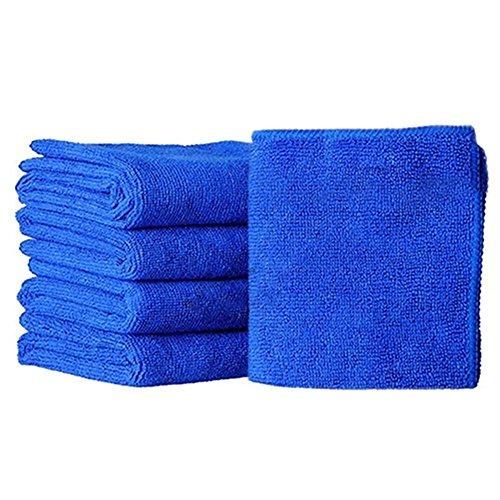 5 serviettes en microfibre - Multi-usages - Pour le nettoyage de la cuisine, de la voiture - Dépoussiérants - Absorbantes - Séchage rapide