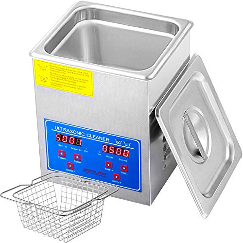 Mophorn Ultrasonic Cleaner 110V 2L Professional Commercial Ultrasonic Cleaner with Digital Timer and Heater for Jewelry Watch Glasses Circuit Board Dentures Small Parts Dental Instrument