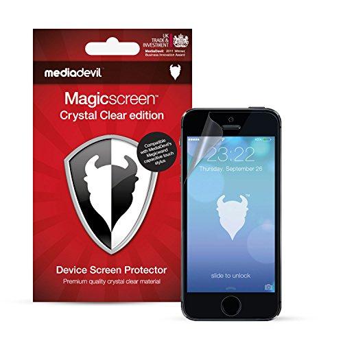 MediaDevil Pellicola Protettiva per iPhone SE (2016) e iPhone 5S / 5C / 5 - Crystal Clear (Invisibile) - (2-Pezzi)