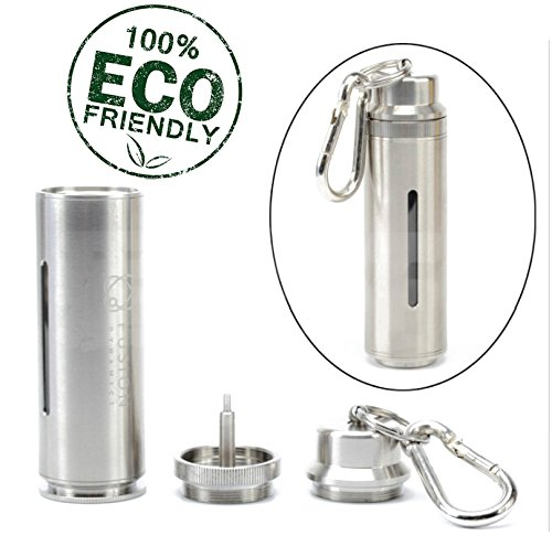 Dropping Bottle Liquid Jar 20mL Drip Stainless Steel EDC Oiler Set with Plastic Funnel and Hook (SILVER)