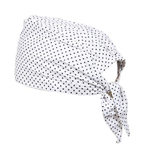 BISMAADH 100% Cotton Polka Dot Printed Durag Skull Cap Bandana Sweatband Handband