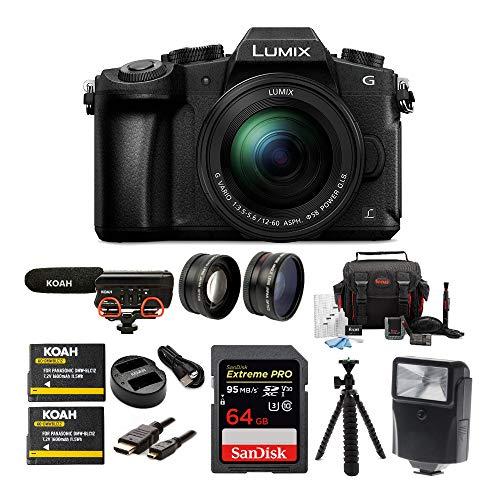 Panasonic LUMIX G85 Mirrorless Camera with 12-60mm...