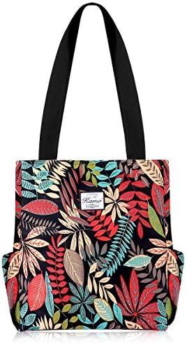 KAMO Floral Tote Bag Waterproof Lightweight Handbags Travel Shoulder Bag for Hiking Yoga Gym product image