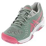 ASICS Women's Gel-Challenger 12 Tennis Shoes, 5, Slate Grey/Pink Cameo