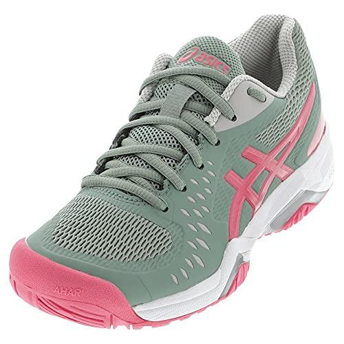 ASICS Women's Gel-Challenger 12 Tennis Shoes, 7.5, Slate Grey/Pink Cameo