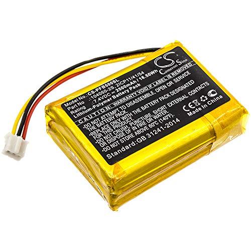 Battery for Philips B5/12 Fidelio B5 2ICP11/41/54 104050-2S (Li-Polymer,2500mAh)