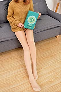 Bare Legs Artifact was Thin Leggings Legging Stockings Style Tights Socks Women Girls Lady Plus Thick Velvet Artificial Light Through The Meat Warm Artifact Stovepipe Legs Stockings Flesh-Colo