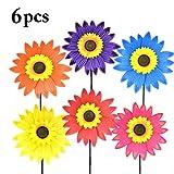 B bangcool Sunflower Garden Spinner Lawn Pinwheels Wind Spinners Sunflowers Garden Party Pinwheel Wind Spinner for Patio Lawn & Garden(6PCS)