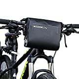 Intsun Wasserdichte 3-Liter-Lenkstangentasche, Radfahren, Mountainbikes, MTB, Lenkertasche, PVC-Tasche, Rahmentasche, Roll-Top-Verschluss, Fahrradtasche