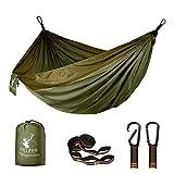 Fieleer Ultraleicht Reise Camping Hängematte Outdoor Hammock | Mit Premium Karabinern & 2,5cm Breiten Schwerlastgurten mit 6 Schlingen | 275x140cm, 300kg Traglast, Aus Fallschirm Nylon | Für Trekking