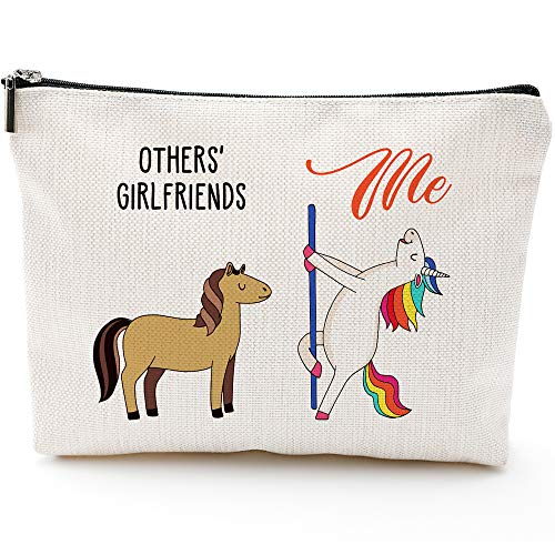 Gifts for Girlfriend,Girlfriend Birthday Gifts,Romantic Gifts for Her Anniversary Gifts for Her,Cute Gifts for Girlfriends,Funny Gifts for Her-Unicorn Girlfriend Makeup Bag