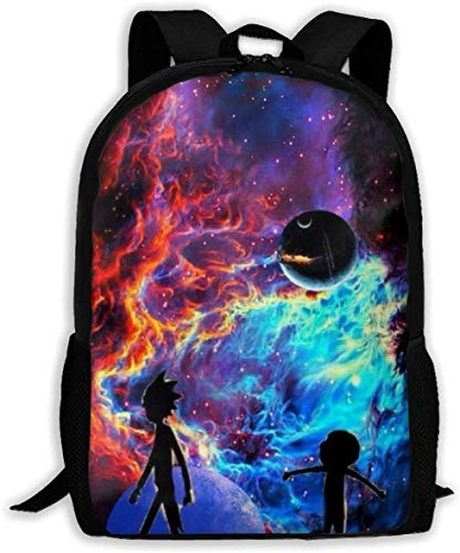 Gsixgoods Mochila Rick Morty Fashion School Backpack 3D Printed Starry Sky Bookbag for