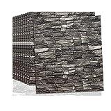 Papel de pared estilo ladrillos 3D, Pegatina de Pared DIY 3D Ladrillo Papel Pintado Sticker Autoadhesivo Wall Paneles, Rasgar y pegar, Ideal para dormitorios y salones 70 x77 cm(AR-420pcas)