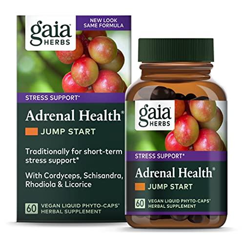 Gaia Herbs Adrenal Health Jump Start, Adrenal Fatigue Supplement for...